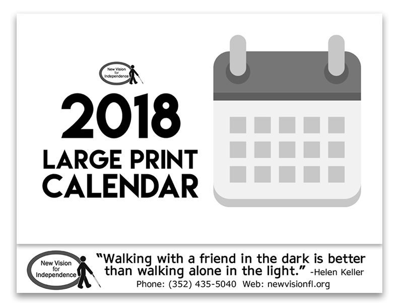 2018 large print calendars for sale